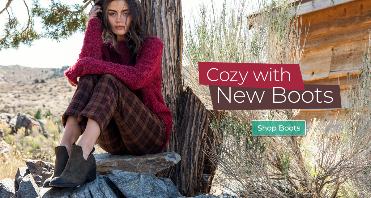 Cozy with new Boots. Shop Boots