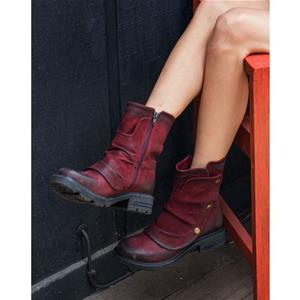Greta Dark Red Nubuck
