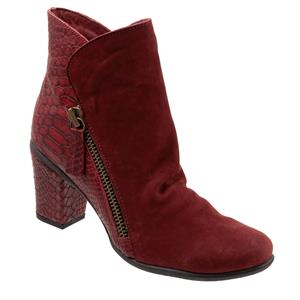 Yountville Dark Red Nubuck Croco